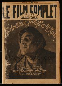 2m017 DR. JEKYLL & MR. HYDE #1 French magazine '22 John Barrymore transforming w/o special effects!