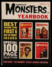 2m066 FAMOUS MONSTERS OF FILMLAND magazine 1962 Yearbook, the best from the first 6 issues!