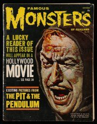 2m069 FAMOUS MONSTERS OF FILMLAND #14 magazine Oct 1961 art of Vincent Price from Pit & Pendulum!