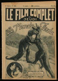 2m018 LOST WORLD French magazine '25 cool special effects image of dinosaurs fighting!