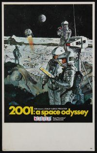 2m077 2001: A SPACE ODYSSEY Cinerama mini WC '68 Kubrick, art of astronauts on moon by Bob McCall!