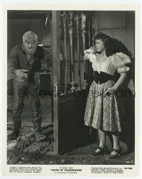 2m055 ELENA VERDUGO signed 8x10.25 still '44 with Wolfman Lon Chaney Jr. in House of Frankenstein!