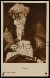 2m005 FAUST 2 German Ross postcards '26 two great images of Gosta Ekman in the title role!