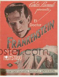 2m009 FRANKENSTEIN Spanish herald '32 great different images of Boris Karloff as the monster!