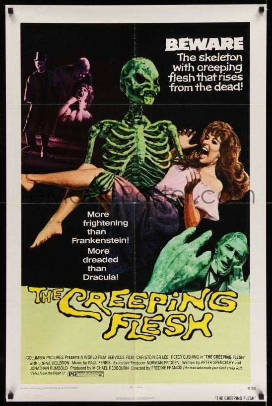 THE CREEPING FLESH MOVIE POSTER Creeping Flesh Skeleton