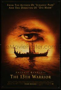2r005 13th WARRIOR DS 1sh '99 extreme c/u of Antonio Banderas' eye, directed by Michael Crichton!