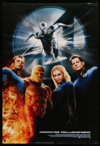 2r002 4: RISE OF THE SILVER SURFER style B DS 1sh '07 Jessica Alba, Chiklis, Chris Evans!