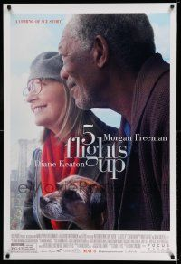 2r004 5 FLIGHTS UP advance DS 1sh '14 great close-up image of Morgan Freeman and Diane Keaton!