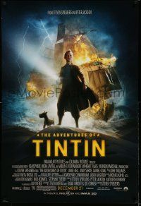 2r019 ADVENTURES OF TINTIN advance DS 1sh '11 Steven Spielberg's version of the Belgian comic!