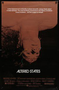 2r029 ALTERED STATES foil 1sh '80 William Hurt, Paddy Chayefsky, Ken Russell, sci-fi!