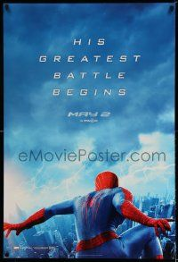 2r036 AMAZING SPIDER-MAN 2 teaser DS 1sh '14 Garfield, his greatest battle begins in RealD 3D!