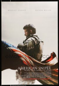 2r044 AMERICAN SNIPER advance DS 1sh '14 Clint Eastwood, Bradley Cooper as legendary Chris Kyle!