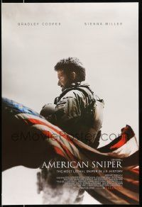 2r045 AMERICAN SNIPER December int'l advance DS 1sh '14 Eastwood, Cooper as legendary Chris Kyle!