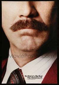 2r055 ANCHORMAN: THE LEGEND CONTINUES teaser DS 1sh '13 great close-up of Will Ferrell's 'stache!