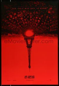 2r063 AS ABOVE SO BELOW teaser DS 1sh '14 found footage thriller, creepy Eiffel Tower image!