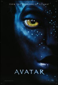 2r070 AVATAR style A int'l teaser DS 1sh '09 James Cameron directed, Zoe Saldana, cool image!