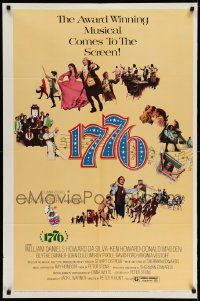 2t013 1776 1sh '72 William Daniels, the award winning historical musical comes to the screen!