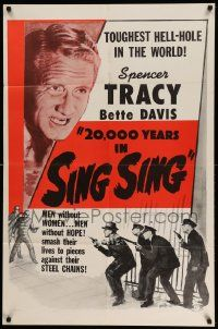 2t017 20,000 YEARS IN SING SING 1sh R56 Spencer Tracy in the toughest hell-hole in the world!