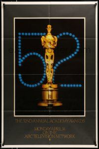 2t006 52ND ANNUAL ACADEMY AWARDS 1sh '80 ABC, great image of golden Oscar statuette!