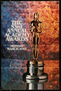 2t007 53RD ANNUAL ACADEMY AWARDS 1sh '81 cool image of Oscar statue and sparkling background!