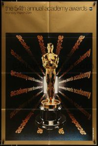 2t008 54TH ANNUAL ACADEMY AWARDS 1sh '82 ABC, great image of golden Oscar statuette!