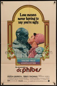 2t024 ABOMINABLE DR. PHIBES 1sh '71 Price, love means never having to say you're ugly