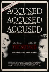 2t026 ACCUSED int'l 1sh '88 Jodie Foster, Kelly McGillis, the case that shocked a nation!