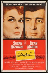 2t027 ADA 1sh '61 super close portraits of Susan Hayward & Dean Martin, what was the truth?