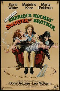 2t029 ADVENTURE OF SHERLOCK HOLMES' SMARTER BROTHER 1sh '75 art by Alvin & Goldschmidt!