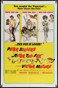 2t032 AFTER THE FOX 1sh '66 De Sica's Caccia alla Volpe, Peter Sellers, Frank Frazetta art!