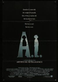 2t023 A.I. ARTIFICIAL INTELLIGENCE int'l 1sh '01 Spielberg, Haley Joel Osment, Jude Law!