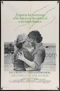 2t037 ALICE DOESN'T LIVE HERE ANYMORE 1sh '75 Martin Scorsese, Ellen Burstyn, Kris Kristofferson!