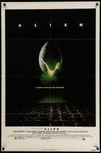 2t039 ALIEN 1sh '79 Ridley Scott outer space sci-fi monster classic, cool egg image!