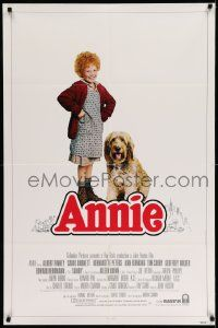 2t060 ANNIE int'l 1sh '82 photo of cute duo Aileen Quinn and Sandy the Dog by Steve Steigman!