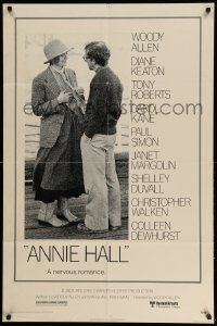 2t061 ANNIE HALL 1sh '77 full-length Woody Allen & Diane Keaton in a nervous romance!