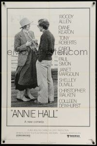2t062 ANNIE HALL revised 1sh '77 full-length Woody Allen & Diane Keaton, a new comedy!