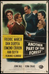 2t063 ANOTHER PART OF THE FOREST 1sh '48 Fredric March, Ann Blyth, from Lillian Hellman's play!