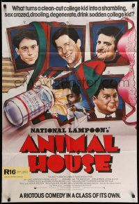2t055 ANIMAL HOUSE English 1sh '78 John Belushi, Landis classic, wacky portraits of top cast!
