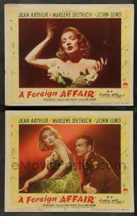 2w881 FOREIGN AFFAIR 2 LCs '48 great images of sexy Marlene Dietrich, John Lund!