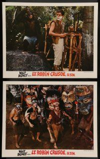 2w916 LT. ROBIN CRUSOE, U.S.N. 2 LCs '66 Disney, Dick Van Dyke & chimp + natives!