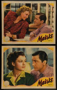 2w919 MAISIE 2 LCs '39 pretty blonde Ann Sothern in title role, Robert Young!