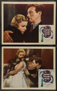 2w920 MAN WHO RECLAIMED HIS HEAD 2 LCs R48 Claude Rains, The Invisible Man, Joan Bennett