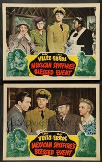 2w926 MEXICAN SPITFIRE'S BLESSED EVENT 2 LCs '43 great wacky images of Hugh Beaumont and Leon Errol