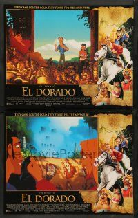 2w959 ROAD TO EL DORADO 2 LCs '00 Dreamworks cartoon, explorers at the city of gold!