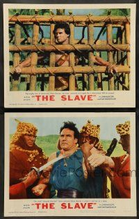 2w966 SLAVE 2 LCs '63 Steve Reeves as the son of Spartacus, directed by Sergio Corbucci!