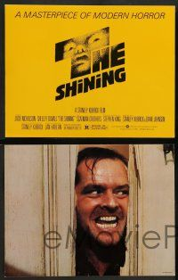 2w009 SHINING 12 color 11x14 stills '80 Stephen King & Stanley Kubrick masterpiece, Jack Nicholson!