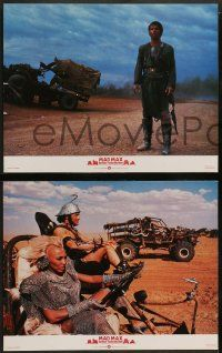 2w245 MAD MAX BEYOND THUNDERDOME 8 English LCs '85 Mel Gibson, Tina Turner, cool action images!