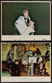 2w147 ELVIS: THAT'S THE WAY IT IS 8 LCs '70 great images of Presley singing & performing!