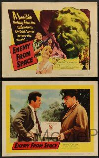 2w148 ENEMY FROM SPACE 8 LCs '57 Val Guest's Quatermass II, sequel to Quartermass Xperiment!