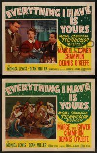 2w737 EVERYTHING I HAVE IS YOURS 3 LCs '52 great images of Marge & Gower Champion, dancing!